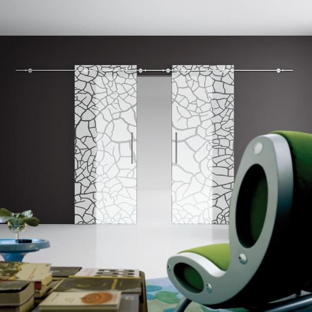 Twin Glass Sliding Door - Modern - Interior Doors - other metro - by Cristallo SP