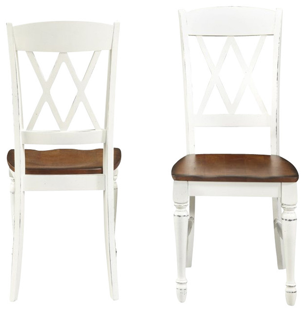 Dining Chairs in White and Oak  Farmhouse  Dining Chairs  by Cymax