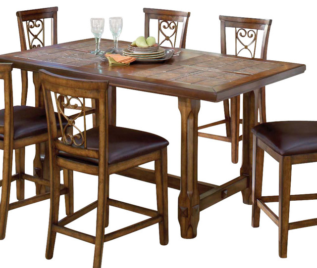 Hillsdale Villagio Trestle Counter Height Dining Table in  : traditional furniture from www.houzz.com size 640 x 542 jpeg 102kB