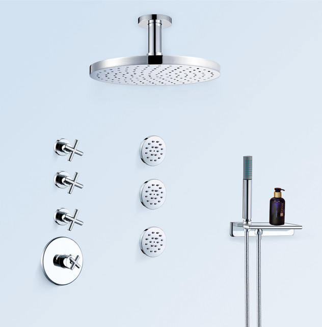 dornbracht tara bath shower combination bathroom faucets and showerheads other metro by. Black Bedroom Furniture Sets. Home Design Ideas