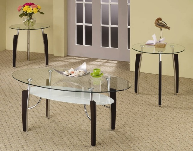 3-Pc Modern Occasional Table Set contemporary-coffee-tables