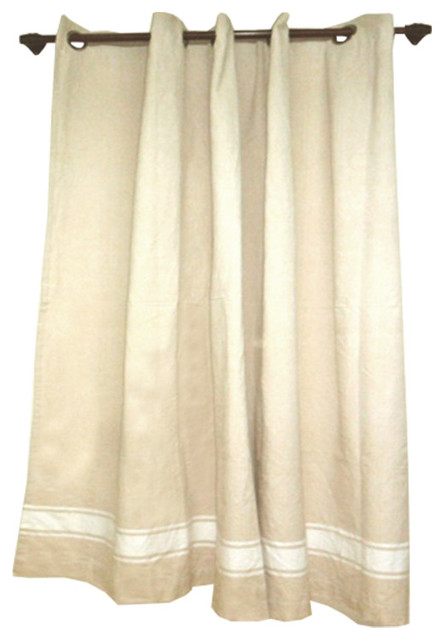 Shower Curtain Cream Traditional Shower Curtains By Brandwave Design