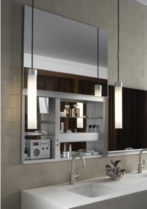 Robern Uplift Mirrored Medicine Cabinet modern-bathroom-mirrors