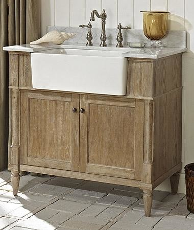 Fairmont Designs 142-FV36 Rustic Chic 36 Inch Farmhouse Vanity In Weathered Oak - Bathroom ...