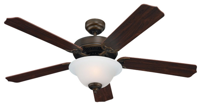 """Sea Gull Lighting 15030BLE-829 Quality Max Plus Bronze 52"""" Ceiling Fan traditional-ceiling-fans"""