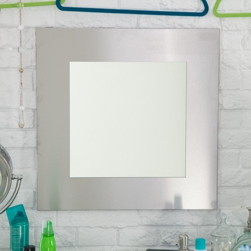 square mirror x in contemporary bathroom mirrors
