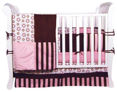 Trend Lab Bubble Gum 4-Piece Crib Bedding Set traditional-baby-bedding