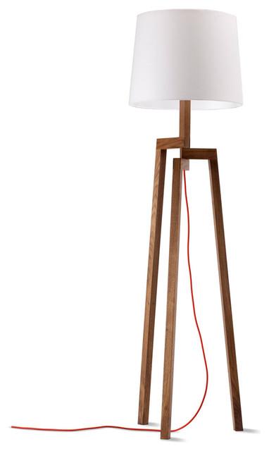 blu dot stilt floor lamp walnut modern floor lamps minneapolis. Black Bedroom Furniture Sets. Home Design Ideas