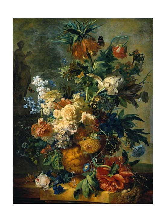 Still Life with Flowers, 1723 | Huysum | Canvas Print - Condition: Canvas Print - Unframed