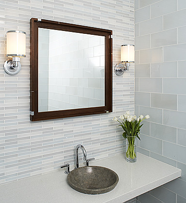 Metro Crisp Glass Tile contemporary-tile