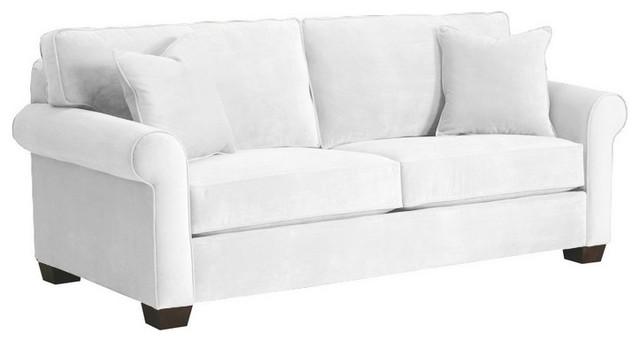 Lafayette Apartment Size Sofa, White, 62x38x32 contemporary-sofas