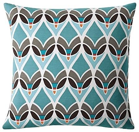 Montauk Outdoor Pillow Turquoise Modern Outdoor