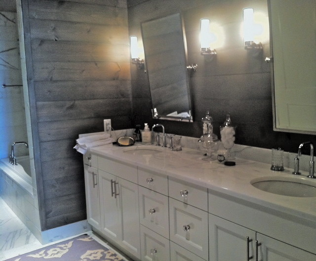 Rustic modern bathroom modern bathroom atlanta by for Rustic modern bathroom ideas