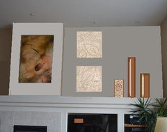 Arrangement with Light FP Wall & Larger Sepia Photos contemporary-interior-elevation