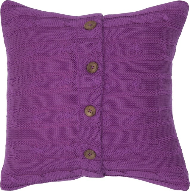 Quilted Pillow, Raspberry, 18