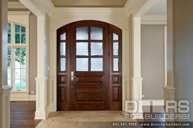 SOLID WOOD ENTRY DOORS-DOORS FOR BUILDERS, INC traditional-front-doors