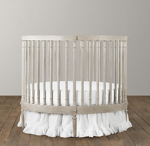 Round Crib & Mattress - Modern - Cribs - by Restoration Hardware Baby ...