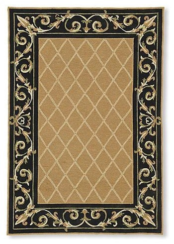 St. Clair Lattice Outdoor Rug traditional-home-fencing-and-gates
