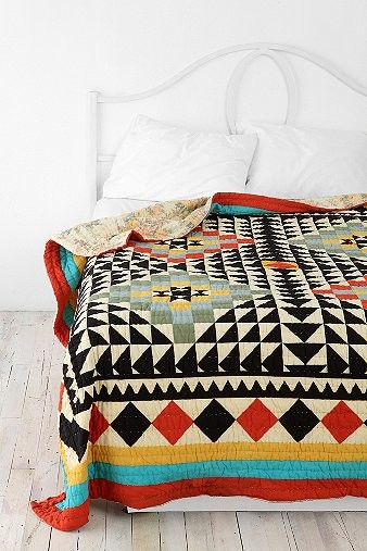 Kaleidoscope Patchwork Quilt eclectic-quilts