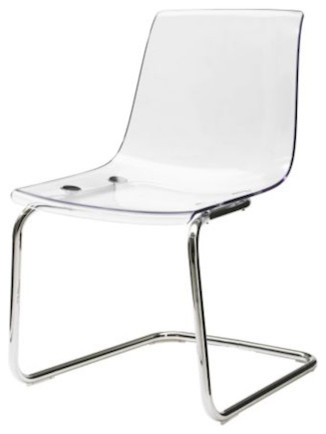 Tobias Chair, Clear modern dining chairs and benches