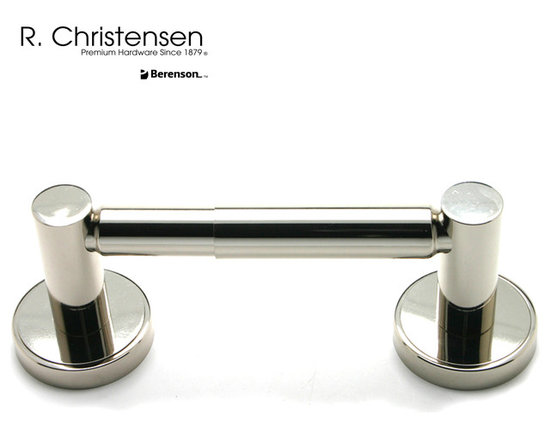 2212US14 Polished Nickel 2-Post Tissue Holder by R. Christensen - 8-1/2 inch long contemporary style 2-post tissue holder by R. Christensen in Polished Nickel.
