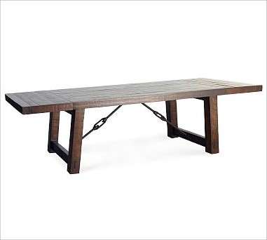 Industrial Extending Dining Table Large Walnut Dining Table