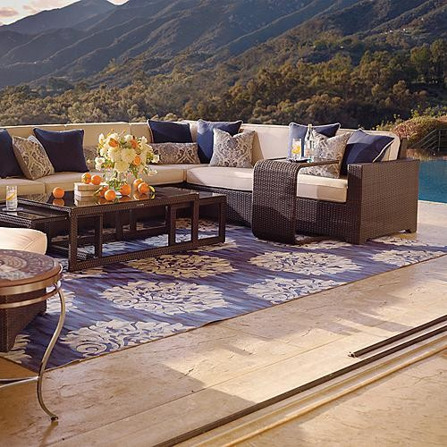 Benton Ikat Outdoor Rug traditional doormats