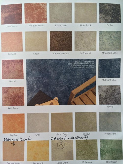Lovely Concrete Stain Colors For Patios Stained Concrete Patio What Should My  Accent Stain Color Be .