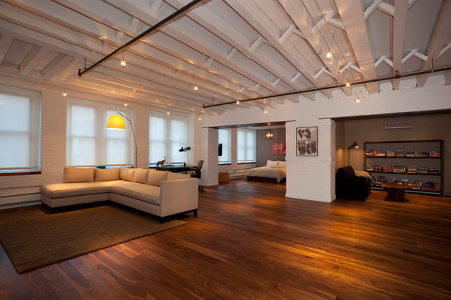 Open Layout New York City Tribeca Loft Luxury Renovation