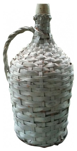 Wicker Wine Jug eclectic food containers and storage