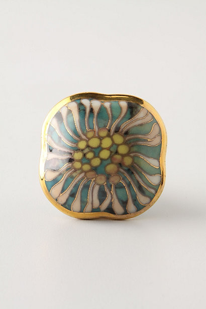 Cloisonne Chrysanthemum Pull eclectic-cabinet-and-drawer-knobs