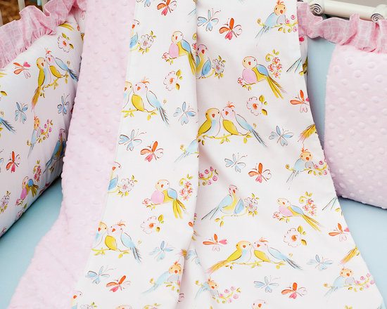 Love Birds Crib Blanket -