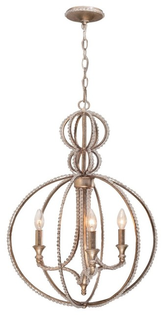 Crystorama 6765-DT Garland Chandelier - 18W in. - Distressed Twilight modern-chandeliers