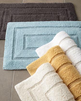 "Kassatex Tufted Cotton Bath Rug, 20"" x 32"" traditional-bath-mats"