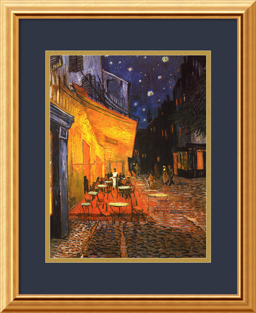 Cafe Terrace at Night, 1888 Framed Print by Vincent Van Gogh traditional-prints-and-posters
