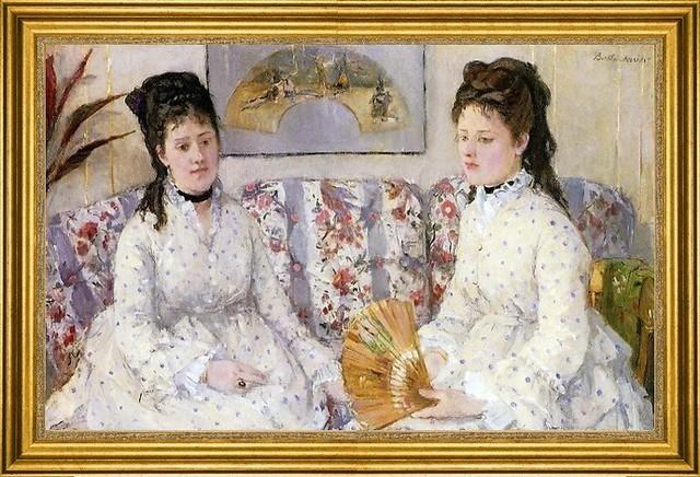 "Berthe Morisot-16""x24"" Framed Canvas traditional-artwork"