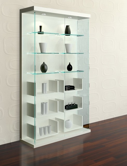 High Gloss White Vitrine - Modern - Kitchen Drawer Organizers - new york - by FurnitureNYC