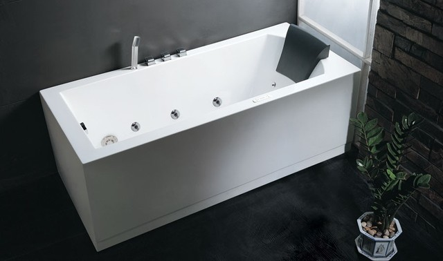 foot soaker tubs eago am154 six foot rectangular corner whirlpool