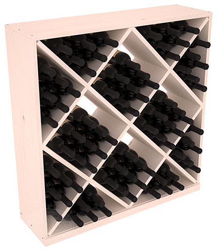 Solid Diamond Wine Storage Cube in Pine, White Wash contemporary-wine-racks