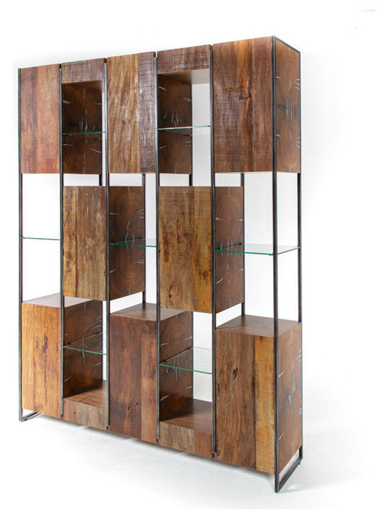 Marley Solid Reclaimed Wood Large Bookcase -