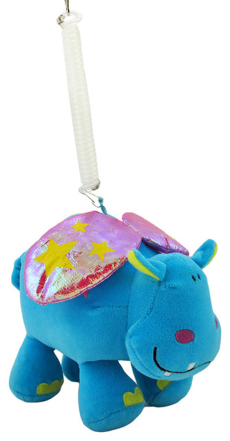 Happy House Bouncing Hippo Plush Baby Toy contemporary-baby-and-toddler-toys