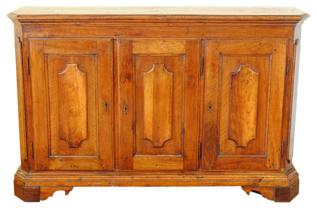 An Early 18th Century Italian Baroque Walnut 3-Door Credenza buffets-and-sideboards