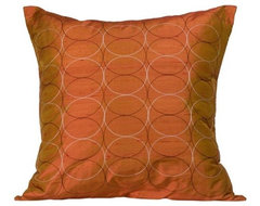 Jiti Olympic Orange Pillow contemporary pillows