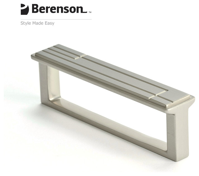 9214-1BPN-P Brushed Nickel Cabinet Pull by Berenson - Transitional - Cabinet And Drawer Handle ...