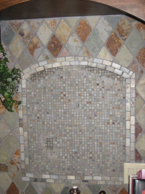 Tile work  kitchen