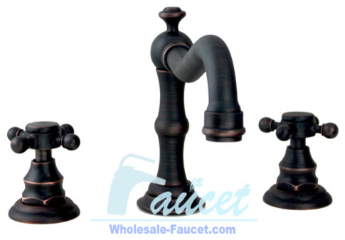 Oil Rubbed Bronze Bathroom Faucet 6021K traditional bathroom faucets