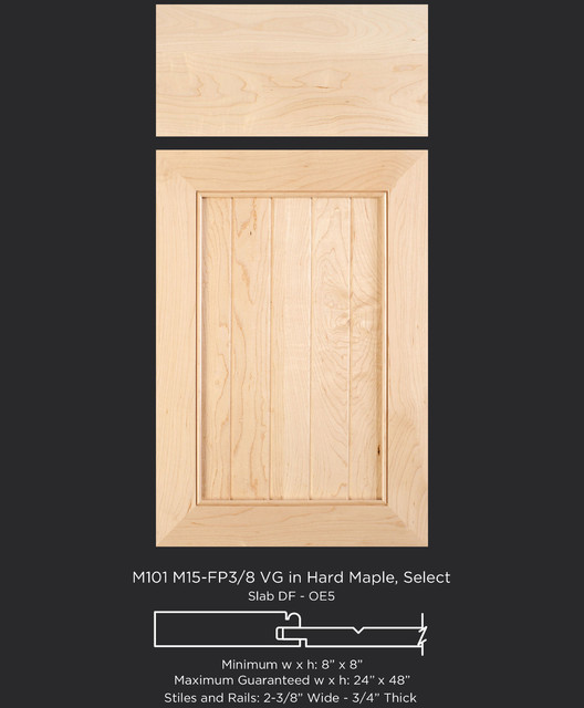 Cabinet Door Style With V Groove Panel In Select Maple Traditional Kitchen Cabinetry