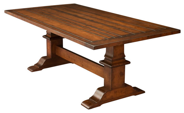 Trestle tables traditional dining tables detroit by dreamhomes Trestle dining table