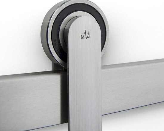 ODEN Sliding Door Hardware - This pure, refined sliding door hardware system makes a statement in any application. Hidden fasteners, and sealed bearings add to the clean-line aesthetics of this product. A sleek and subtle statement capturing timeless precision. Available in polished stainless, brushed stainless, black stainless and bamboo, as well as with a color accent kit. Prices start at $949.