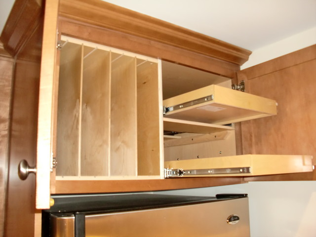 Above Fridge & Oven Pull Out Shelves and Tray Dividers - Kitchen Drawer Organizers - boston - by ...